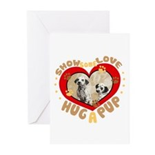 Hug a Pup Dalmations Greeting Cards (Pk of 10)