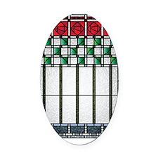 RoseBouqShirt Oval Car Magnet