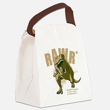 Rawr-Dinosaur-drk Canvas Lunch Bag