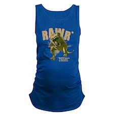 Rawr-Dinosaur-drk Maternity Tank Top