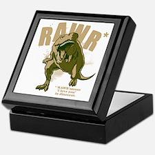 Rawr-Dinosaur-drk Keepsake Box