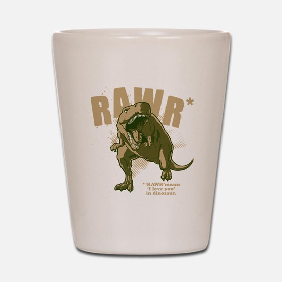 Rawr-Dinosaur-drk Shot Glass