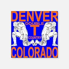 """denver_colorado_double_t_co Square Sticker 3"""" x 3"""""""