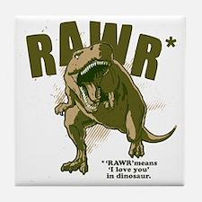 Rawr-Dinosaur Tile Coaster