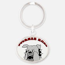 Buckner-Bulldog-Revised Oval Keychain