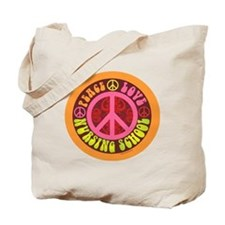 CP - peace love nursing school4 Tote Bag