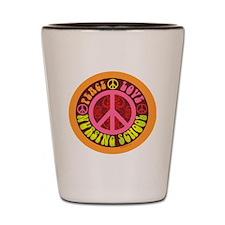 CP - peace love nursing school4 Shot Glass