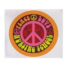 CP - peace love nursing school4 Throw Blanket