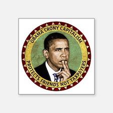"sept_crony_capitalism Square Sticker 3"" x 3"""