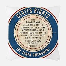 aug11_tenth_amendment Woven Throw Pillow