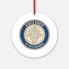 aug11_tenth_amendment Round Ornament