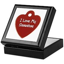 Love Snowshoe Keepsake Box