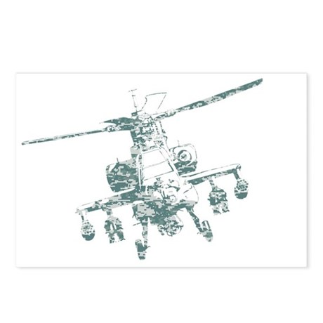 Camo Apache Postcards (Package of 8)