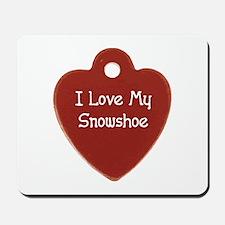 Love Snowshoe Mousepad