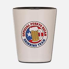 Puerto Rican Drinking Team Shot Glass