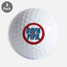 no_sopa_pipa Golf Ball
