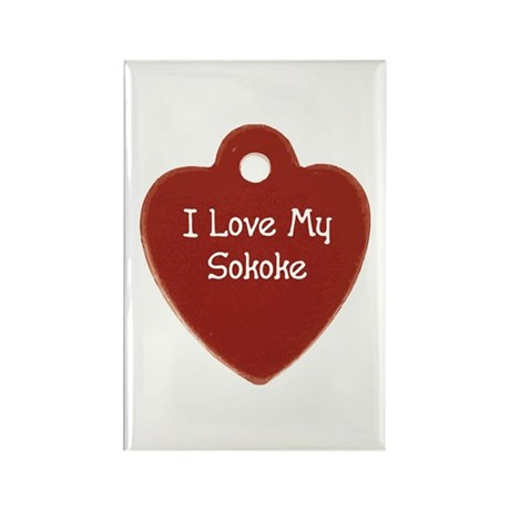 Love Sokoke Rectangle Magnet (100 pack)