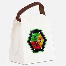 4D Hypercube Crop-Circle Canvas Lunch Bag