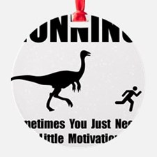 Running Motivation Black Ornament