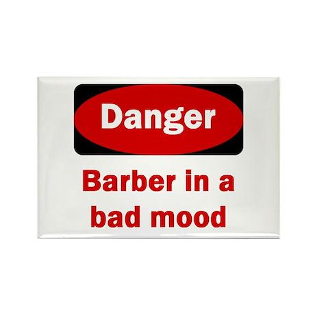 Danger Barber In A Bad Mood Rectangle Magnet (10 p