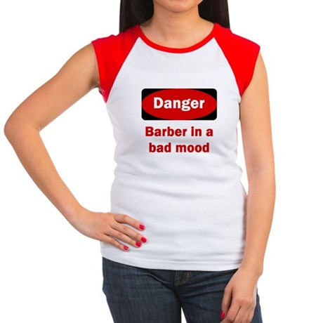 Danger Barber In A Bad Mood Women's Cap Sleeve T-S