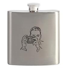Smile Jesus Love You White Flask