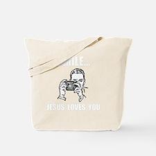 Smile Jesus Love You White Tote Bag