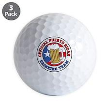 Puerto Rican Drinking Team Shot Glass Golf Ball