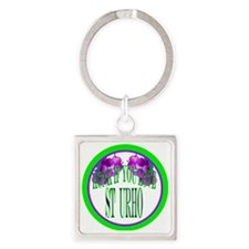 honk button if you love St Urho Square Keychain