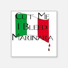 "Italian Pride - I bleed Mar Square Sticker 3"" x 3"""