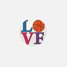 multi, Basketball LOVE Mini Button