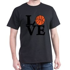 black, Basketball LOVE T-Shirt