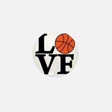 black, Basketball LOVE Mini Button