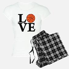 black, Basketball LOVE Pajamas