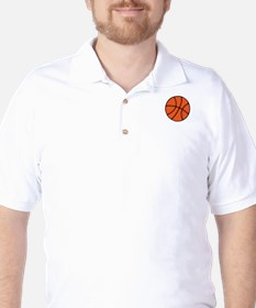 white, Basketball LOVE Golf Shirt