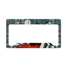 red_cafepress_bag License Plate Holder