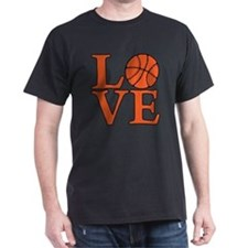 orange, Basketball LOVE T-Shirt