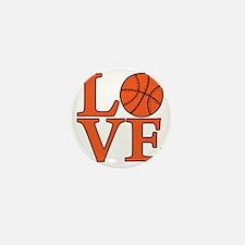 orange, Basketball LOVE Mini Button