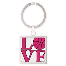 melon, Basketball LOVE Square Keychain