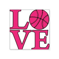 "melon, Basketball LOVE Square Sticker 3"" x 3"""