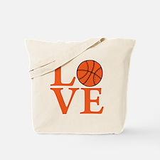 orange2, Basketball LOVE Tote Bag