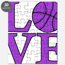 purple, Basketball LOVE Puzzle