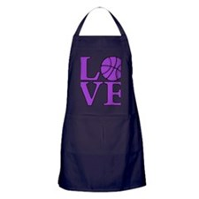 purple, Basketball LOVE Apron (dark)