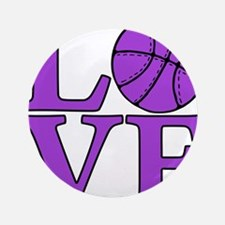 "purple, Basketball LOVE 3.5"" Button"