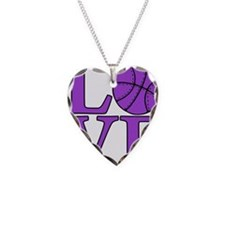 purple, Basketball LOVE Necklace