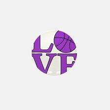 purple, Basketball LOVE Mini Button