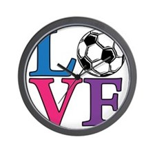 Multi, Soccer LOVE Wall Clock
