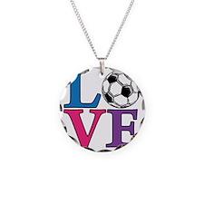 Multi, Soccer LOVE Necklace