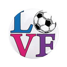 """Multi, Soccer LOVE 3.5"""" Button"""