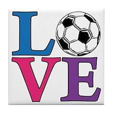 Multi, Soccer LOVE Tile Coaster